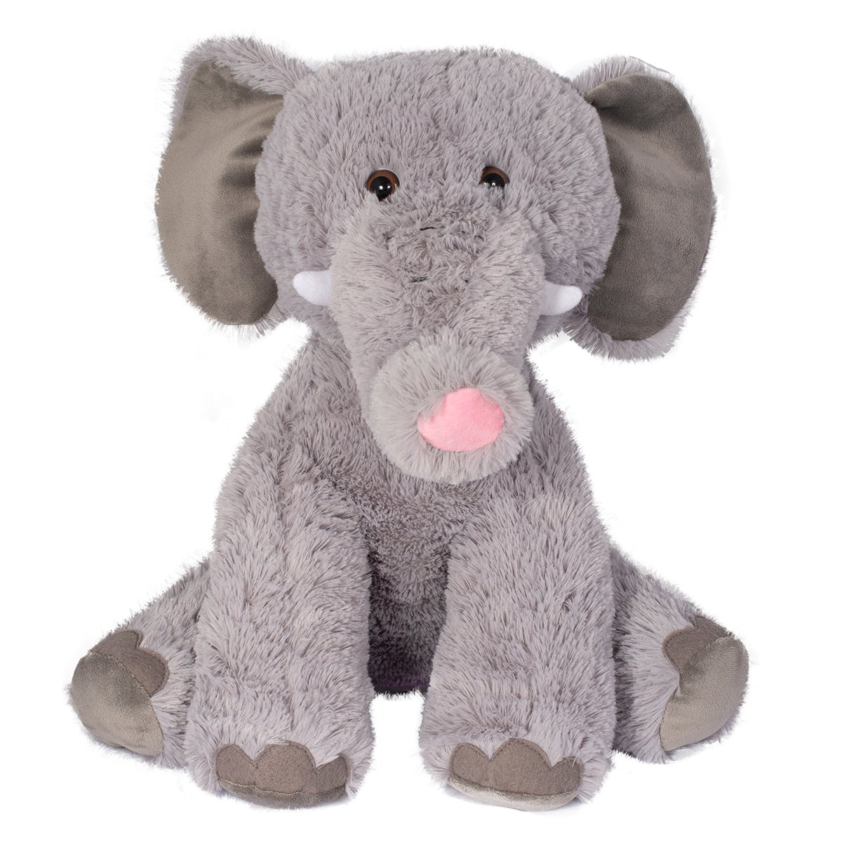 Jucarie de plus Noriel, Elefant, Gri, 40 cm
