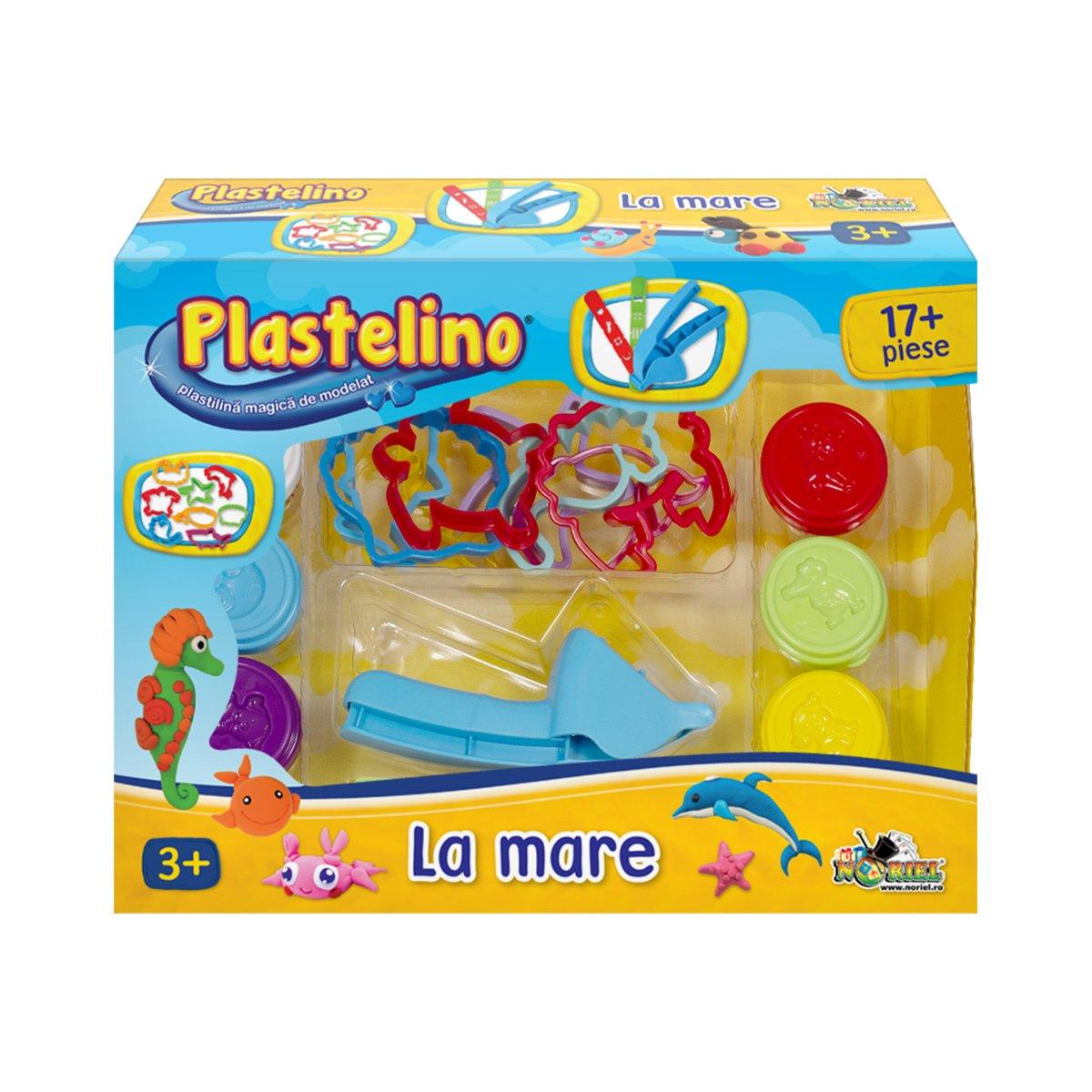 Set de modelare Plastelino, La mare, 17 piese