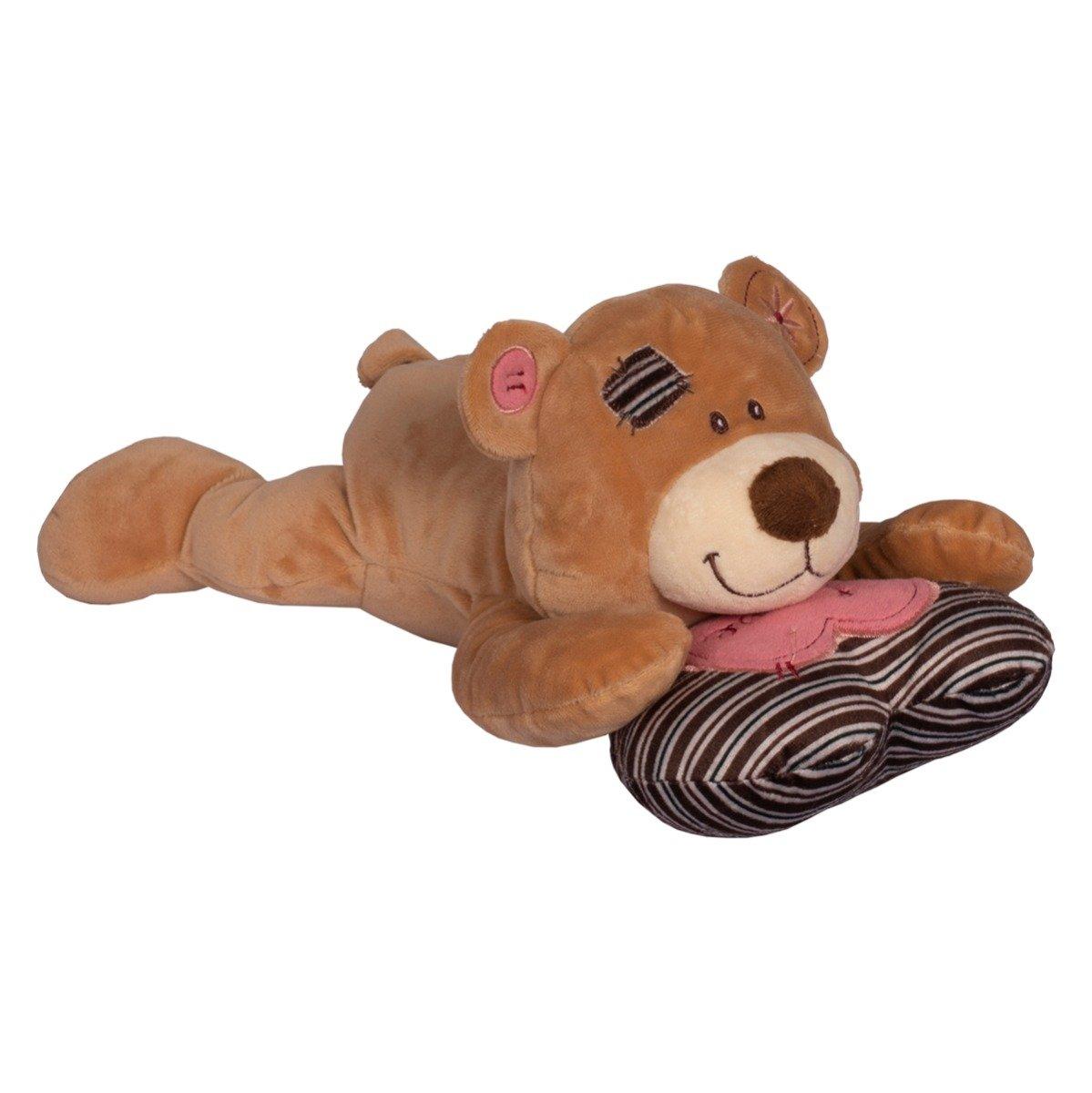 Jucarie de plus Noriel, Ursulet Bej cu perna, 29 cm