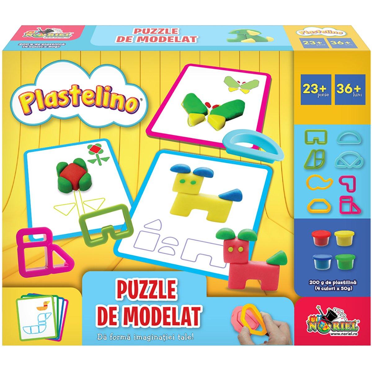 Set de joaca Plastelino, Puzzle de modelat