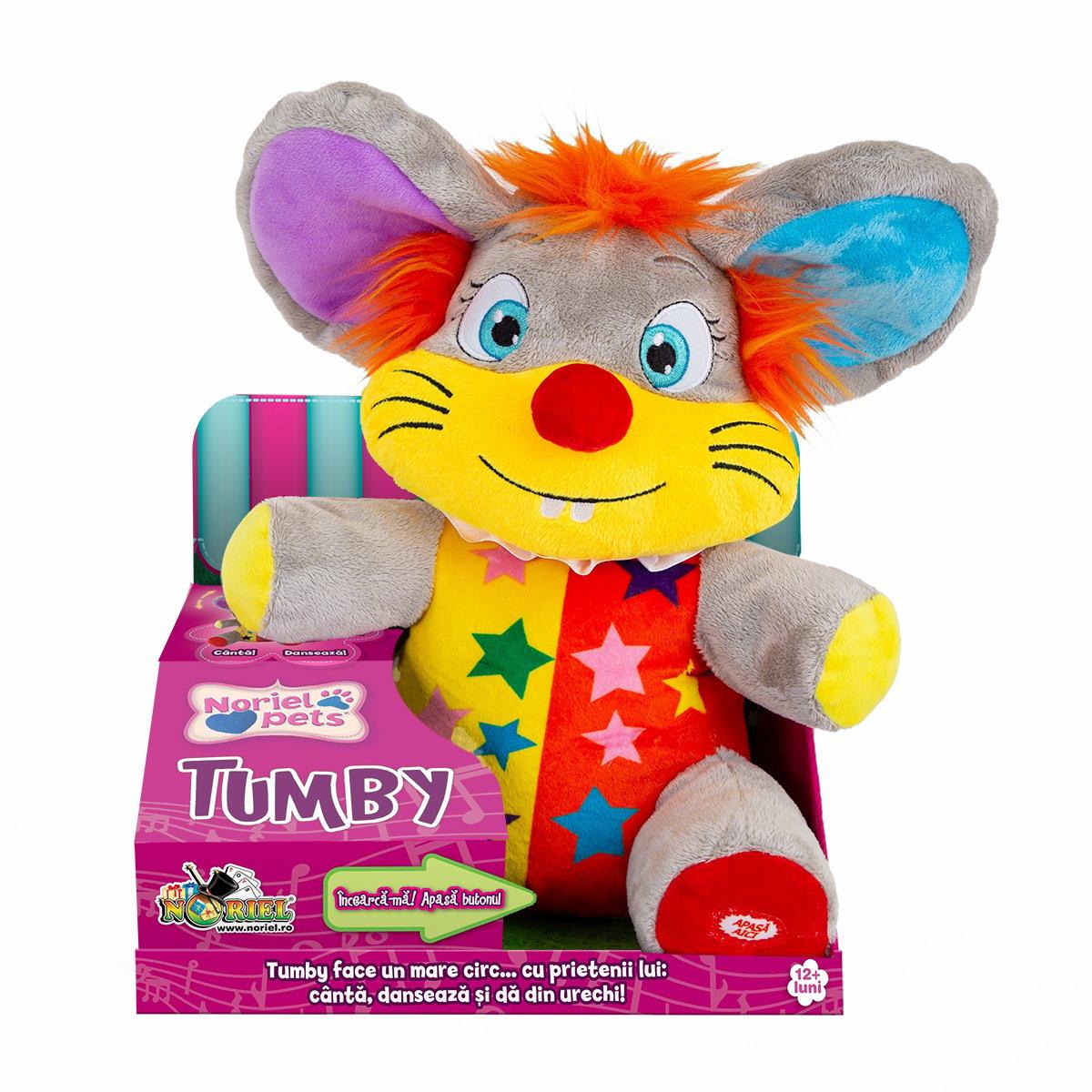 Jucarie din plus interactiva Noriel Pets - Tumby, soricelul de la circ