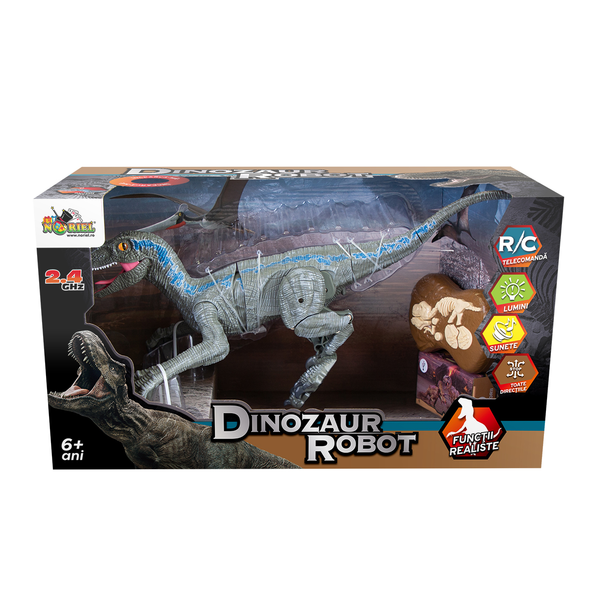 Jucarie interactiva Noriel, Dinozaur robot, Albastru