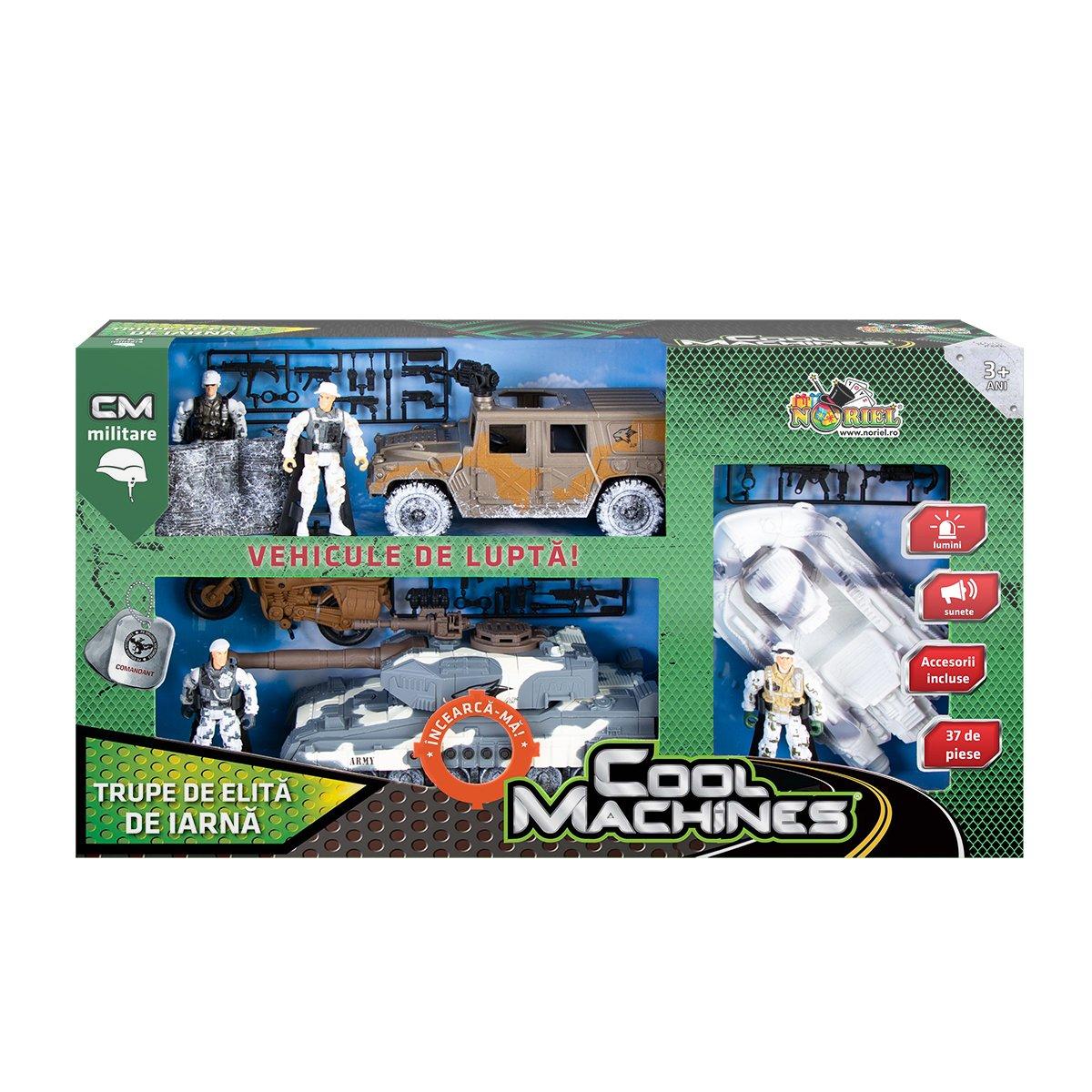 Set militar cu vehicule de iarna Cool Machines, Trupe de elita