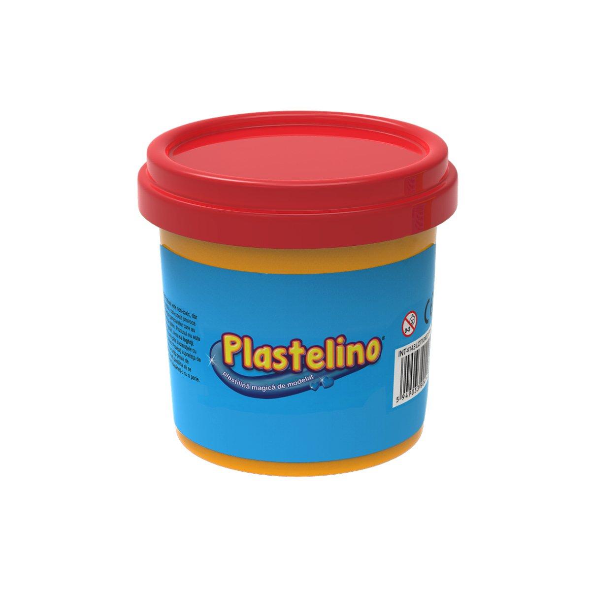 Plastelino - Tub de plastilina Rosu