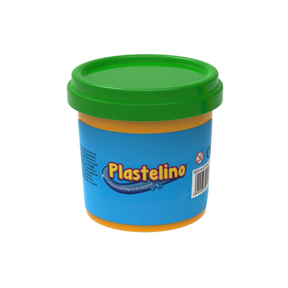 Plastelino - Tub de plastilina, Verde imagine
