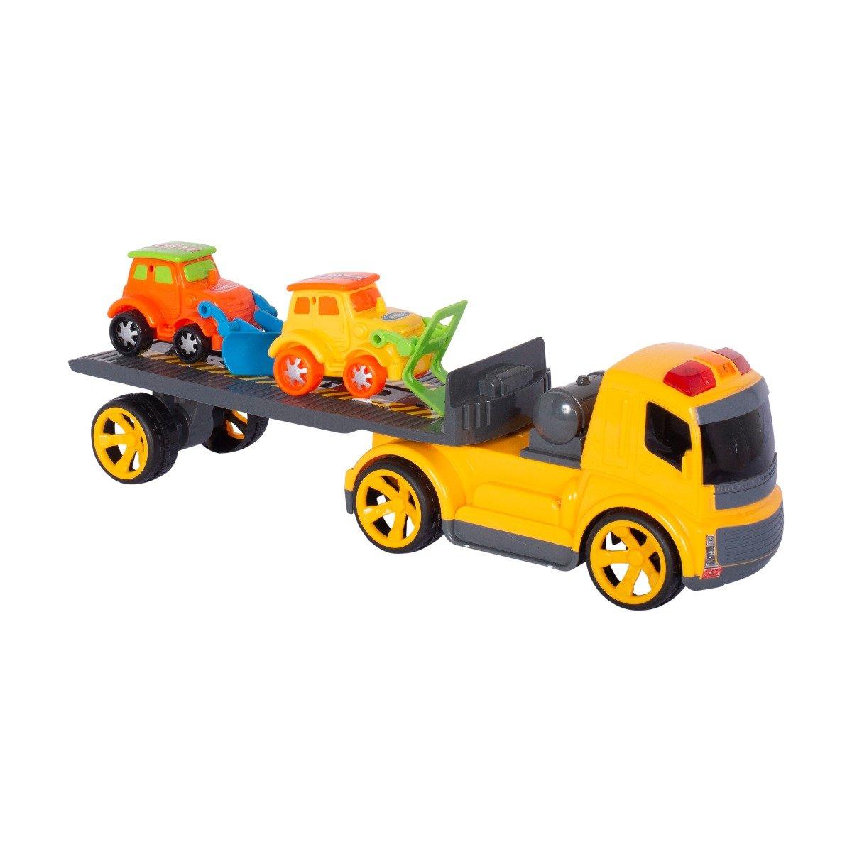Transportor cu 2 masinute - Cool Machines, masina de asfaltat si excavator