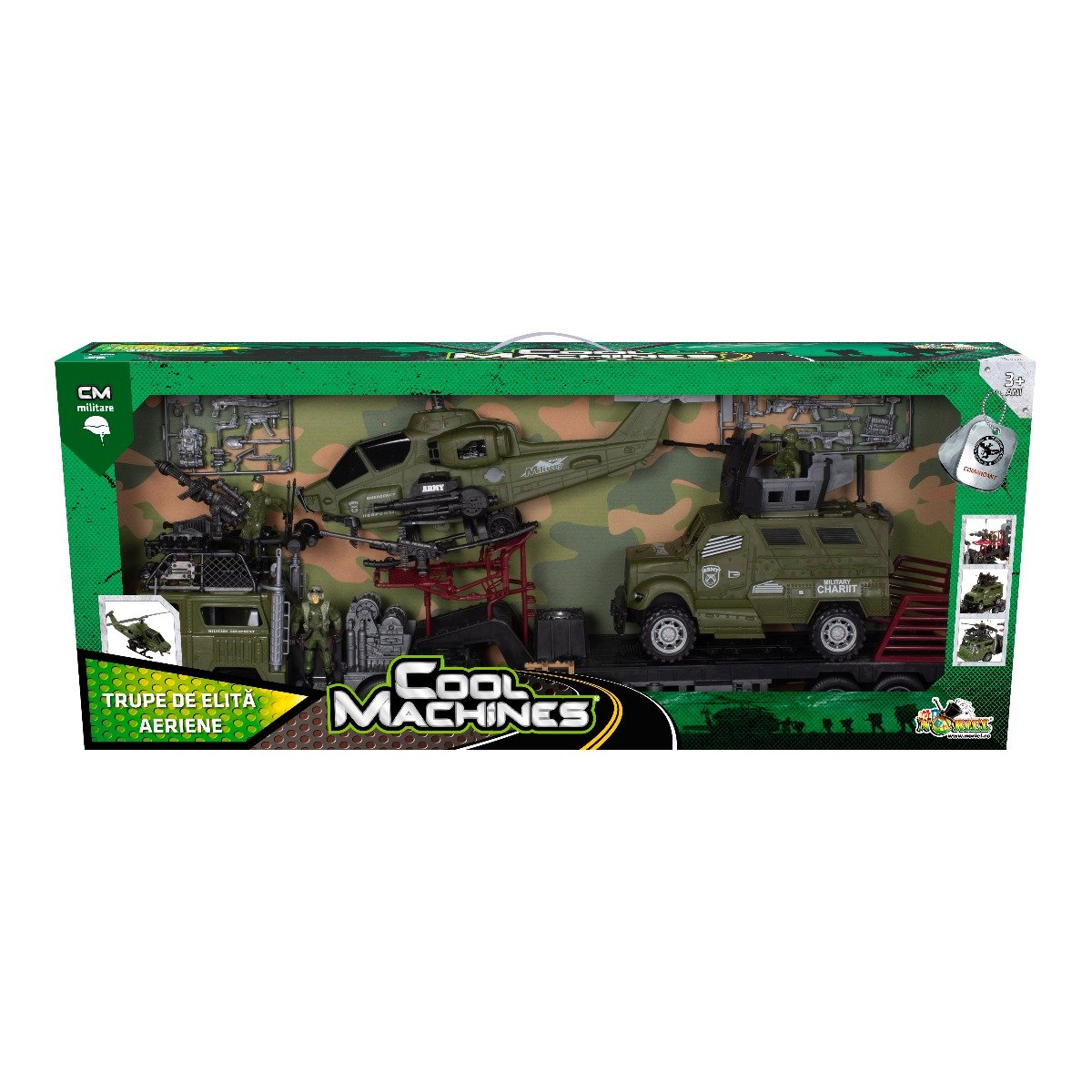 Set militar cu elicopter Cool Machines - Trupe de elita II