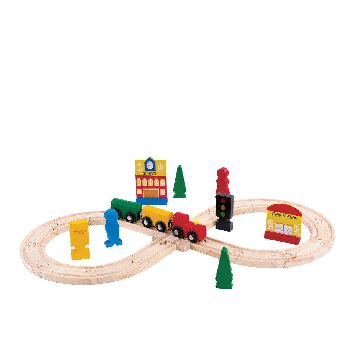 Jucarie bebelusi Noriel Bebe Wood - Trenuletul calator imagine