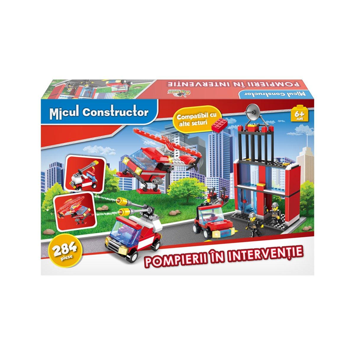 Jucarie de constructie Micul Constructor - Pompierii in interventie