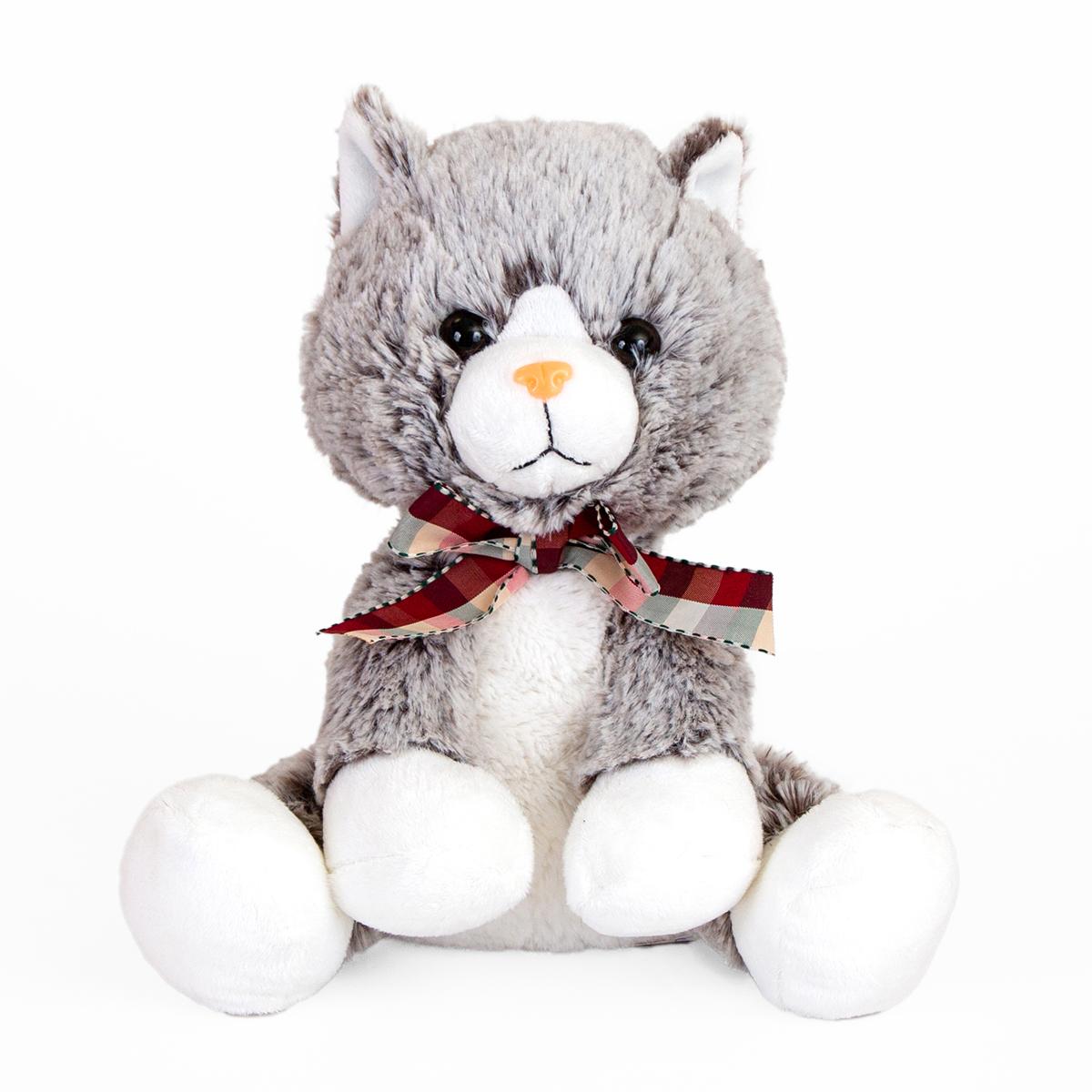 Jucarie de plus Noriel, Pisica, Gri, 24 cm