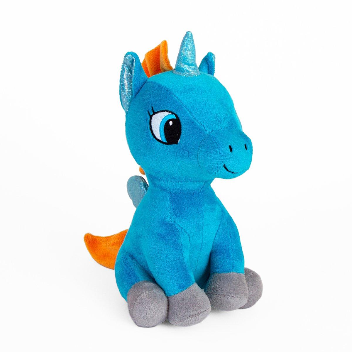 Jucarie de plus Noriel, Unicorn Cyan, 24 cm