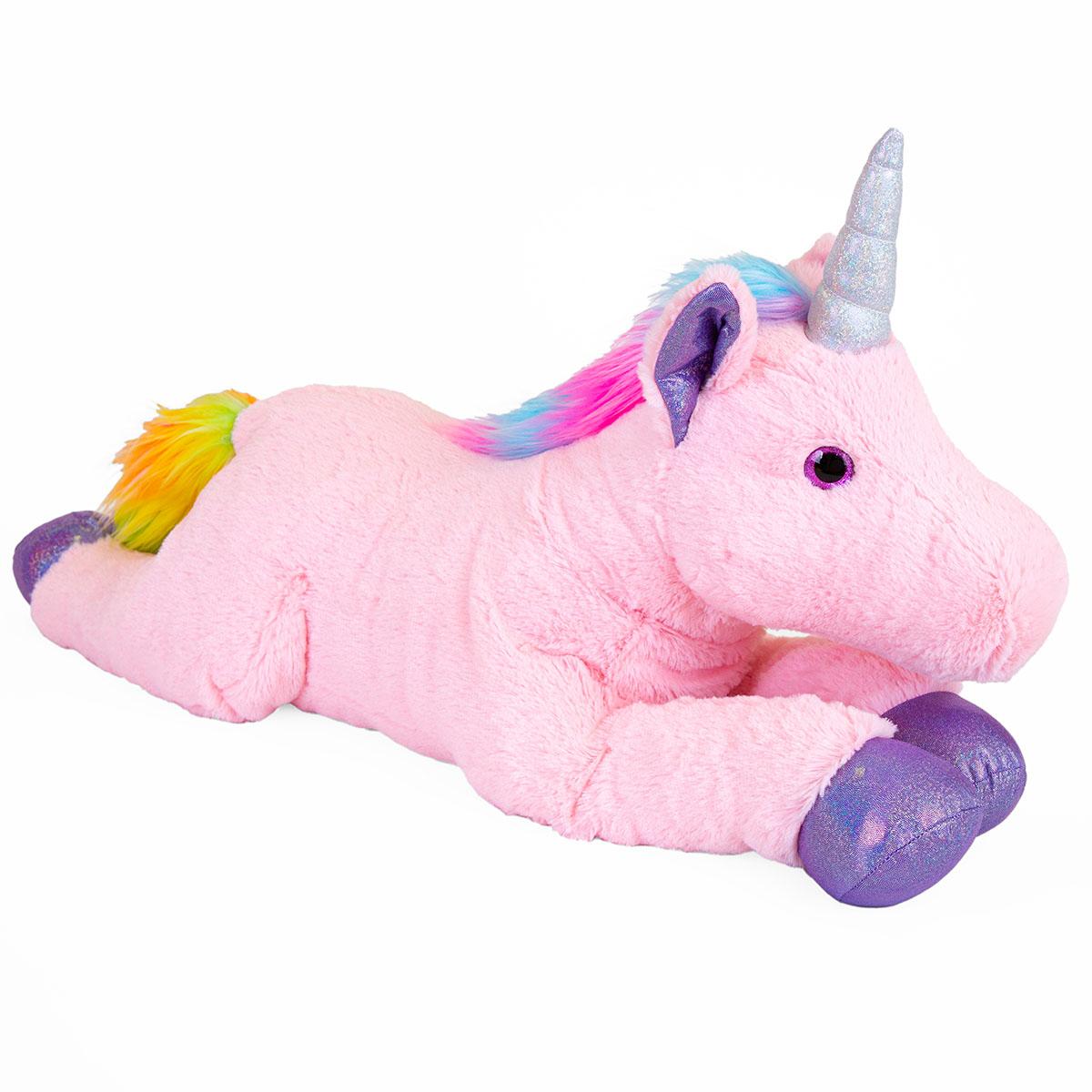 Jucarie de plus Noriel, Unicorn, Roz, 80 cm