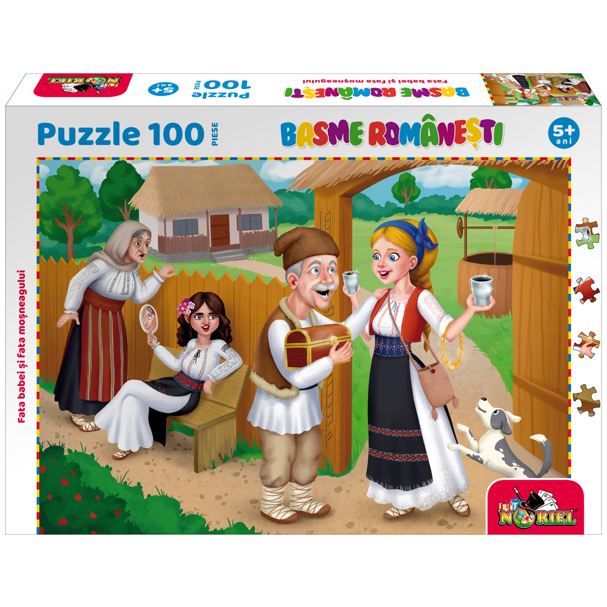 Puzzle 100 piese, Noriel Basme Romanesti, Fata babei si fata mosneagului