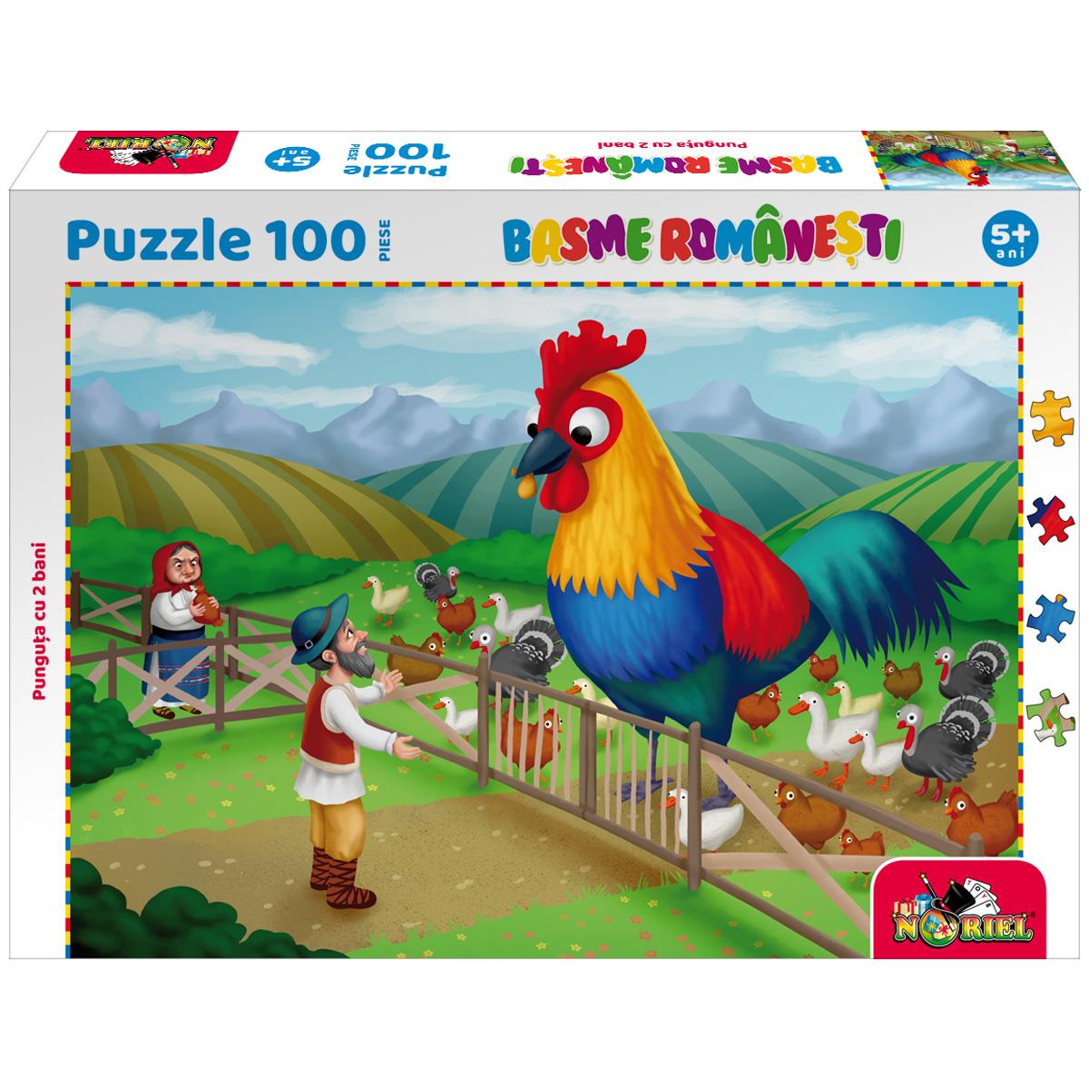 Puzzle 100 piese, Noriel Basme Romanesti, Punguta cu doi bani