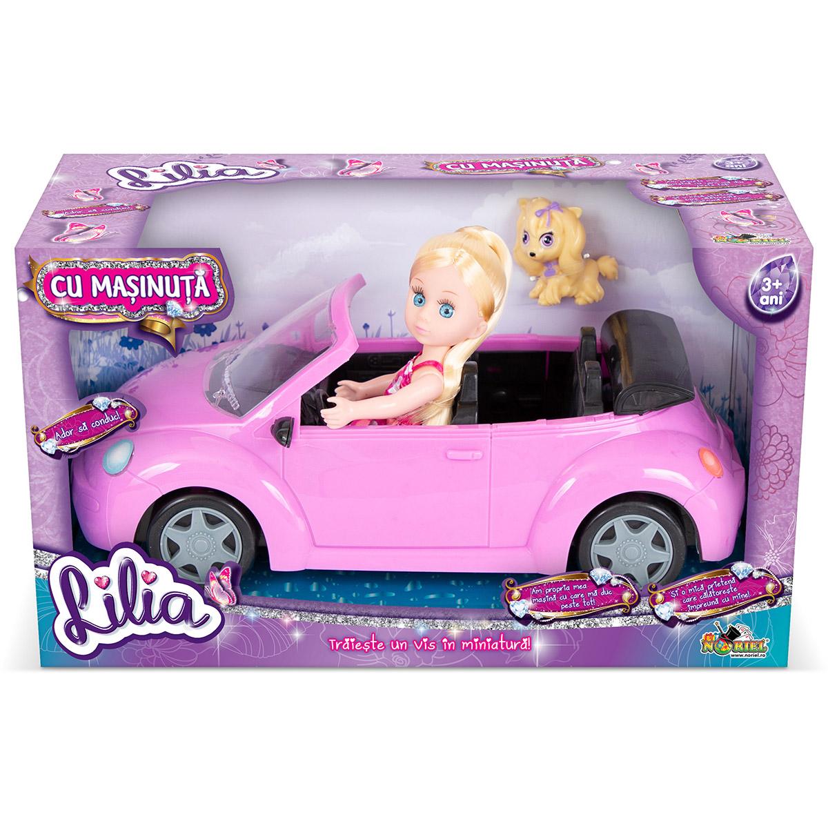 Papusa Lilia Mini cu masinuta