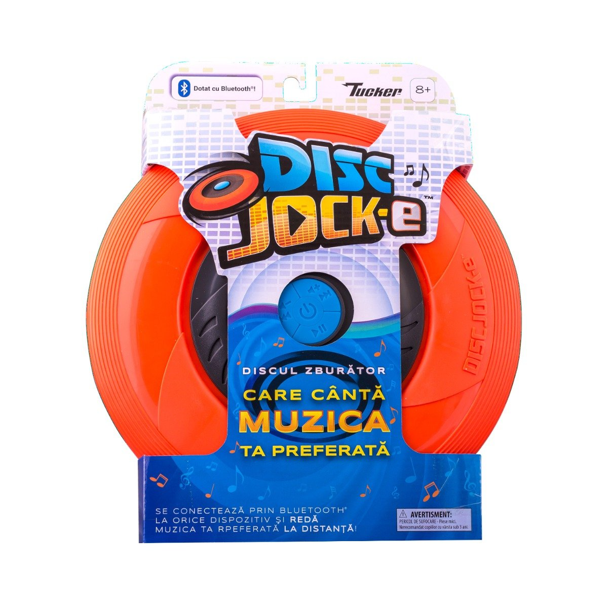 Disc zburator cu boxe Noriel Disc Jock-e, Orange