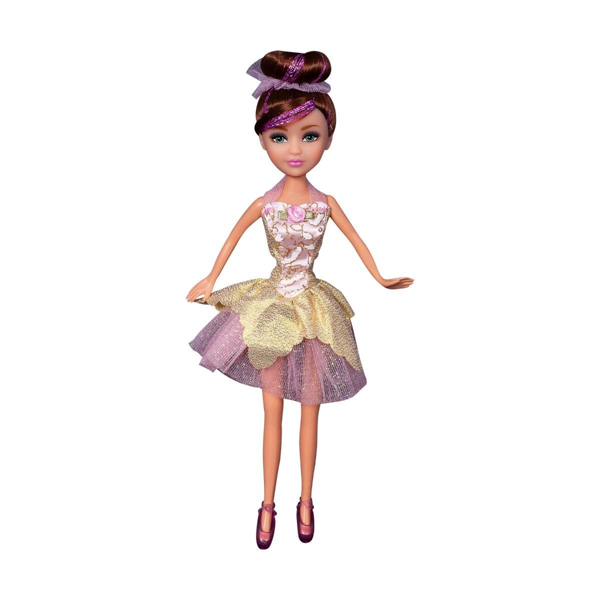 Papusa Colectia Lilia - Balerina cu rochita roz