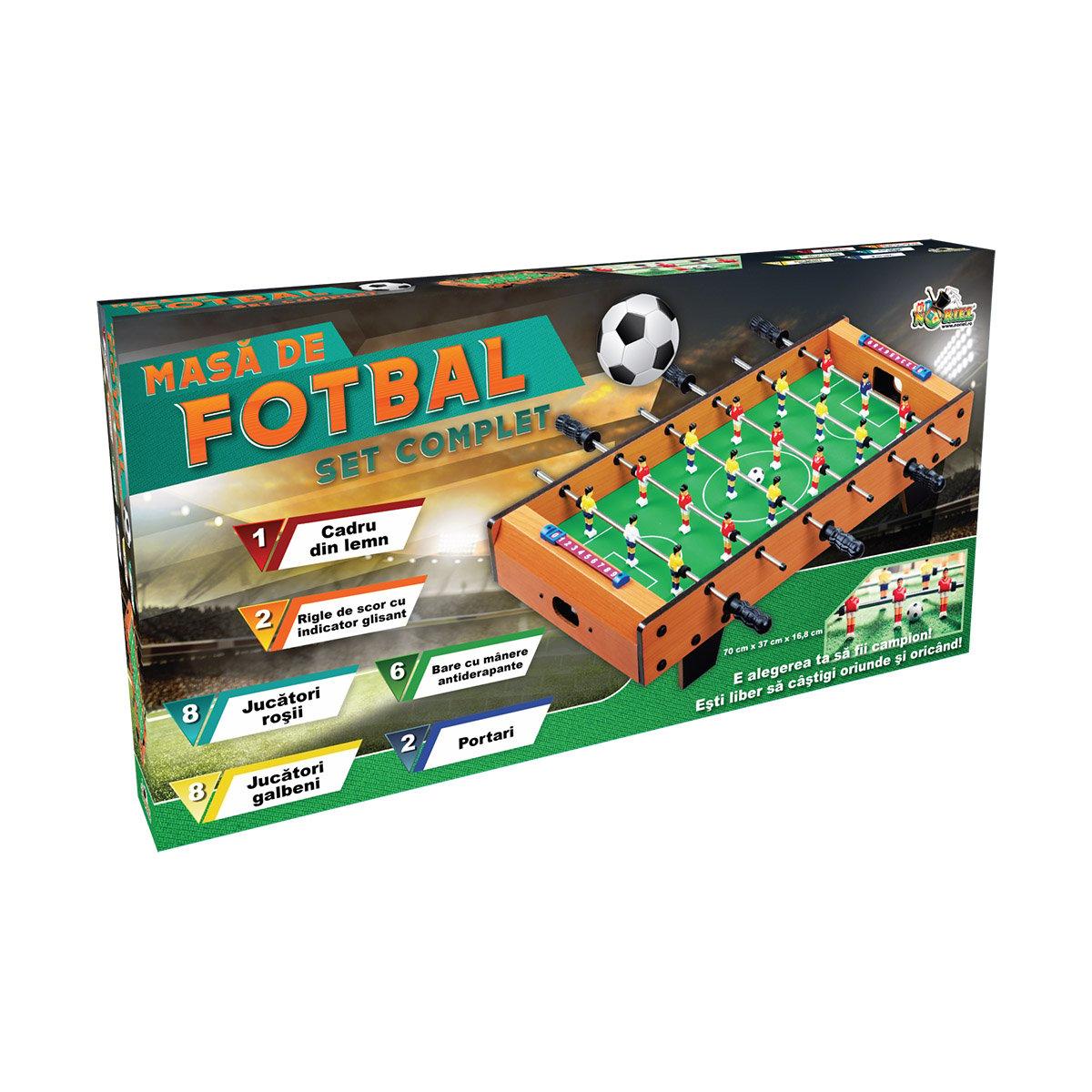 Masa de fotbal din lemn Noriel Games, 70 cm