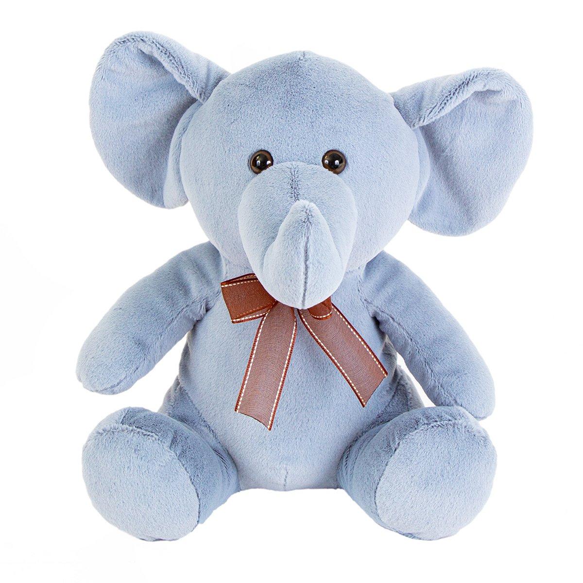 Jucarie de plus Noriel, Elefant, Albastru, 30 cm