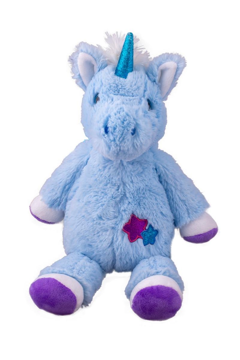 Jucarie de plus Unicorn, Albastru, 25 cm