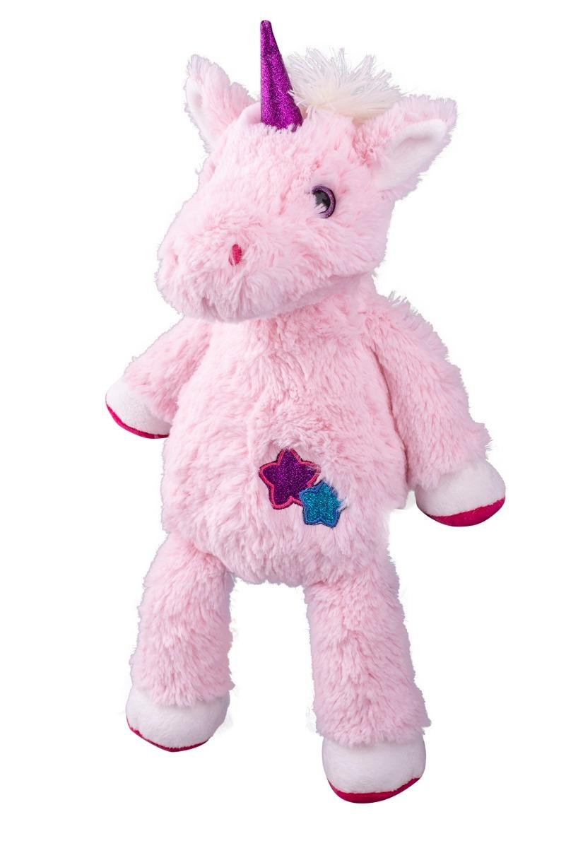 Jucarie de plus Noriel Unicorn, Roz, 25 cm