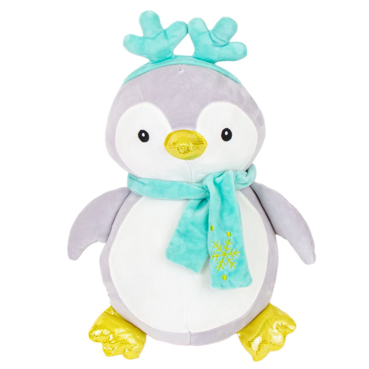 Jucarie de plus, Noriel Plush, Pinguin cu coronita, 38 cm