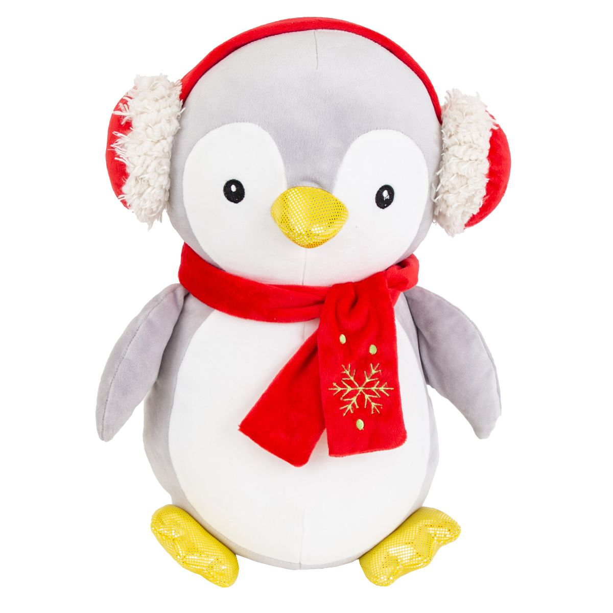 Jucarie de plus, Noriel Plush, Pinguin cu casti, 38 cm