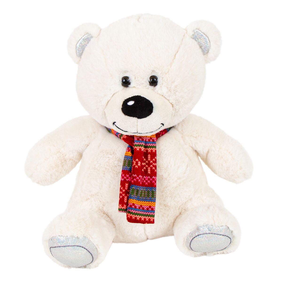 Jucarie de plus, Noriel Plush, Urs polar cu fular, 35 cm