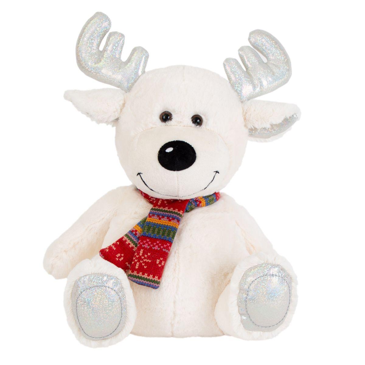 Jucarie de plus, Noriel Plush, Ren polar cu fular, 35 cm