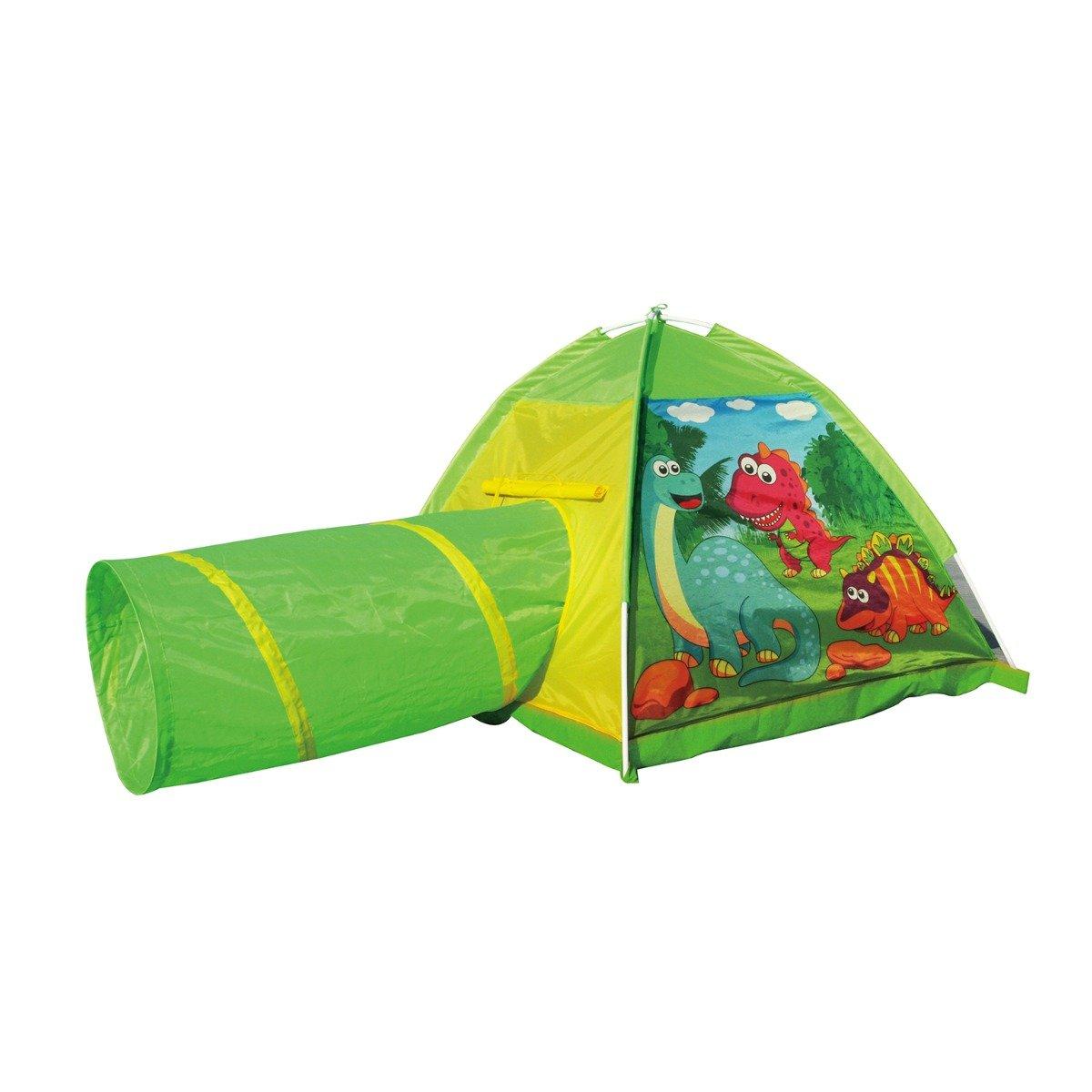 Cort cu tunel pentru copii Iplay-Toys Dinosaur Tent