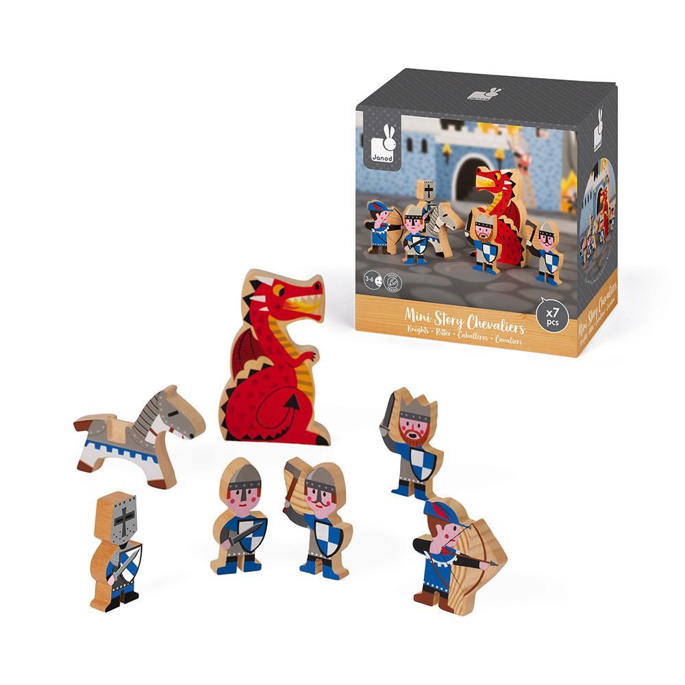 Set de joaca din lemn, Mini povesti Janod, Cavaleri imagine