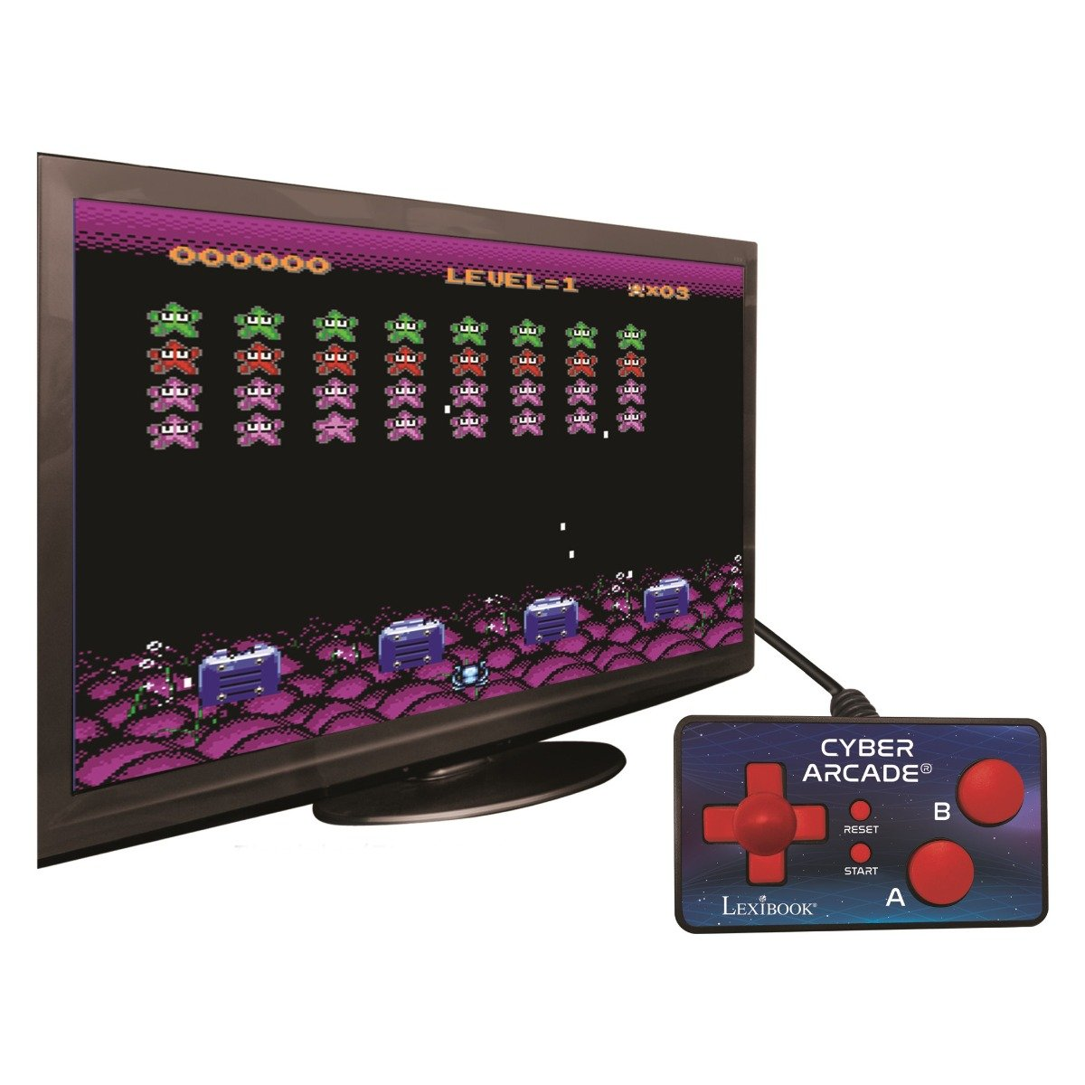 Consola TV Cyber Arcade N'Play Lexibook, 200 jocuri