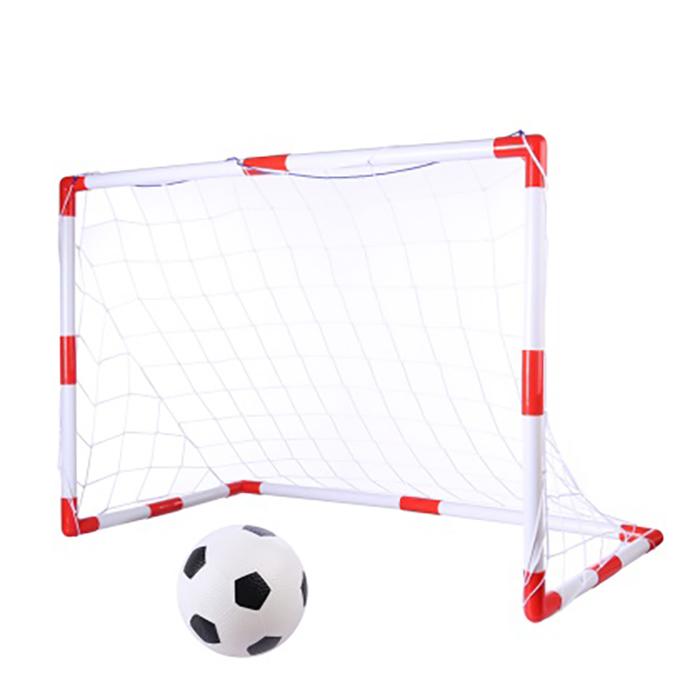 Set de fotbal 2 in 1 King Sport, Rosu/Alb