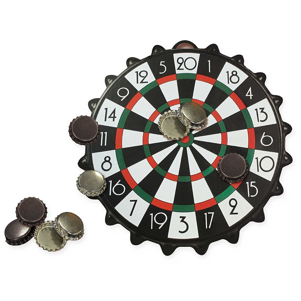 Joc Mini Darts Magnetic Bottle Cap Global, 24 cm