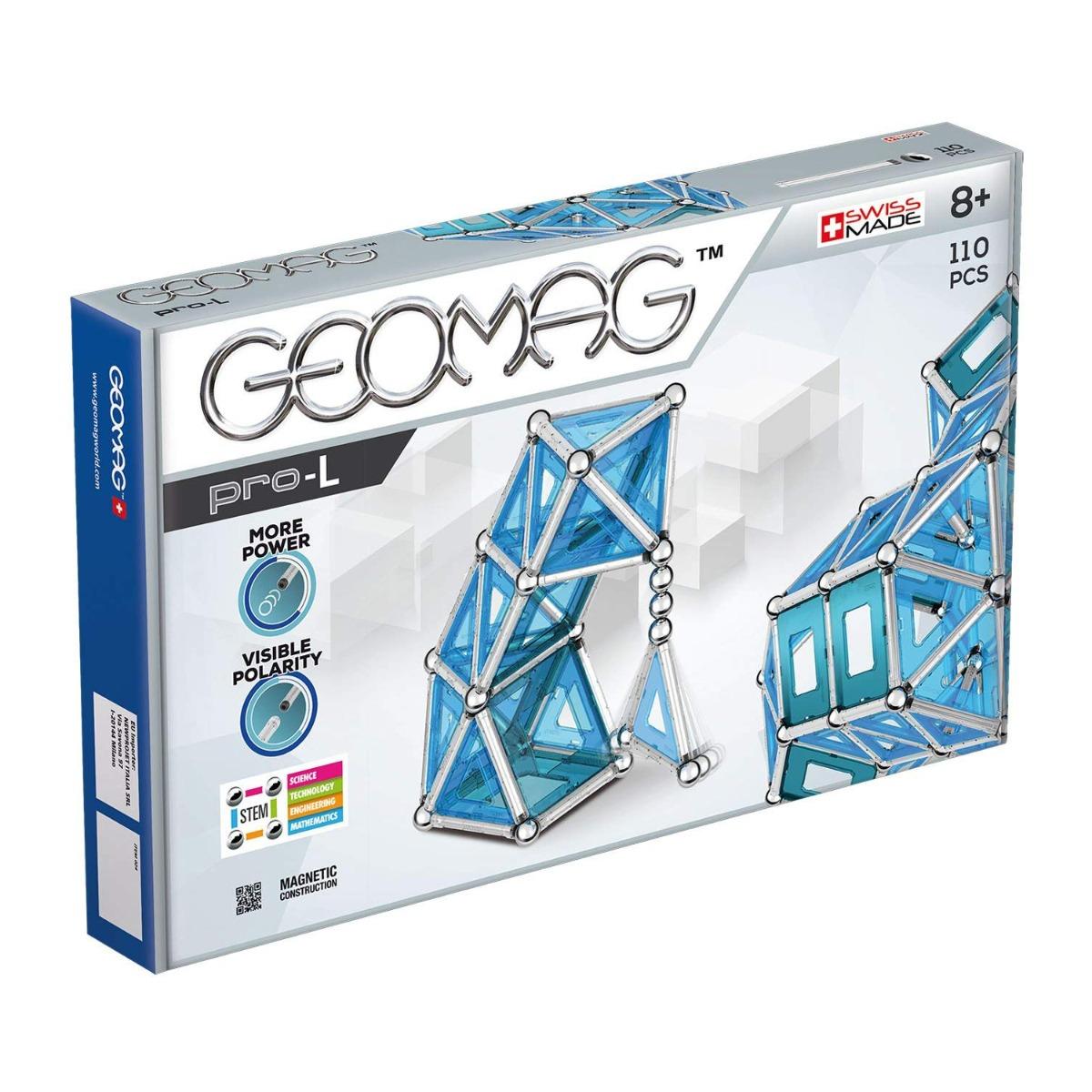Joc de constructie magnetic Geomag PRO-L, 110 piese