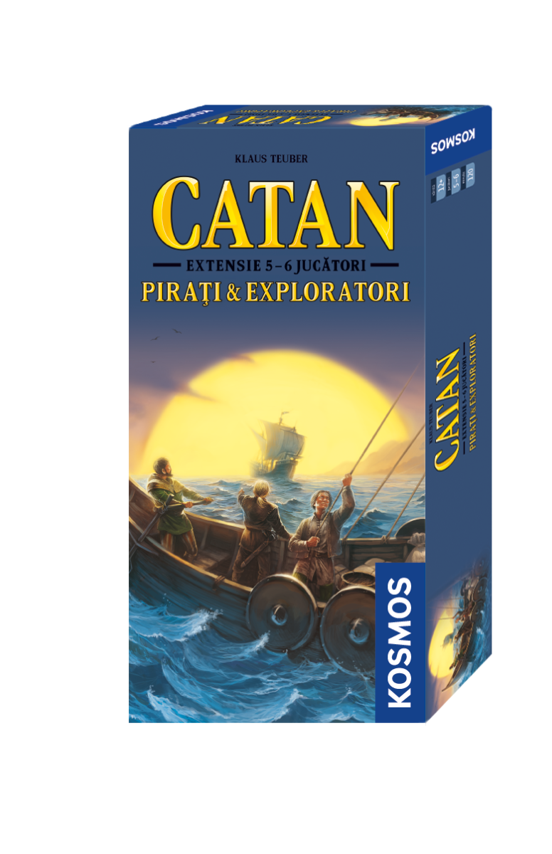 Joc De Societate Catan - Pirati Si Exploratori (extensie) 5/6 Jucatori