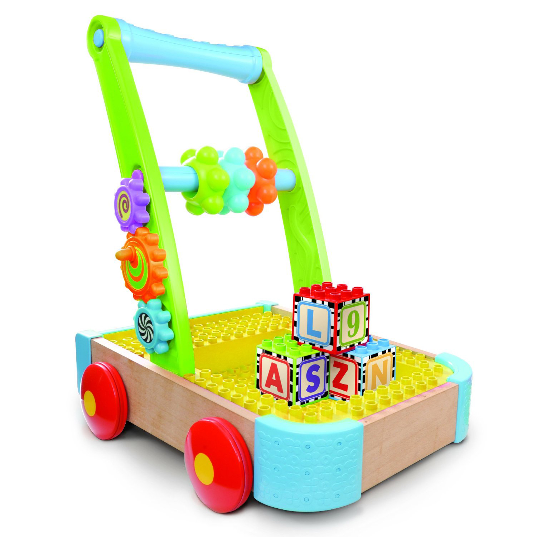 jucarie bebelusi b-kids antemergator si cuburi de construit