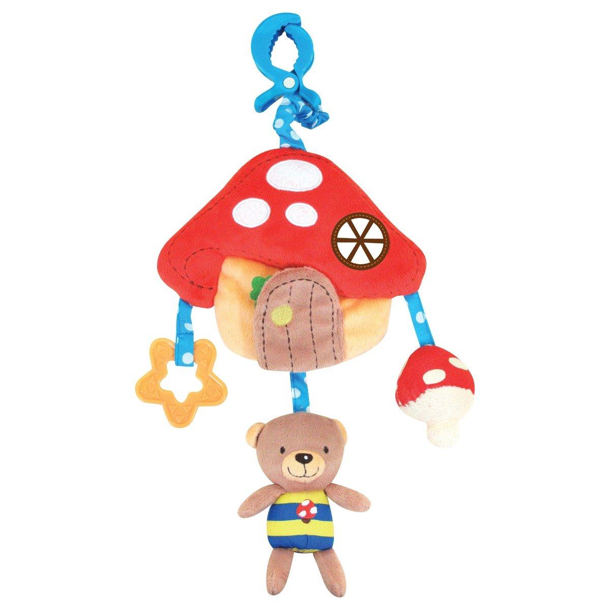 jucarie pentru carucior cu accesorii casuta cu stelute