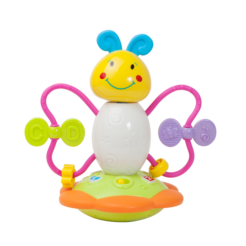 jucarie bebelusi noriel bebe - fluture cu activitati, bilingv