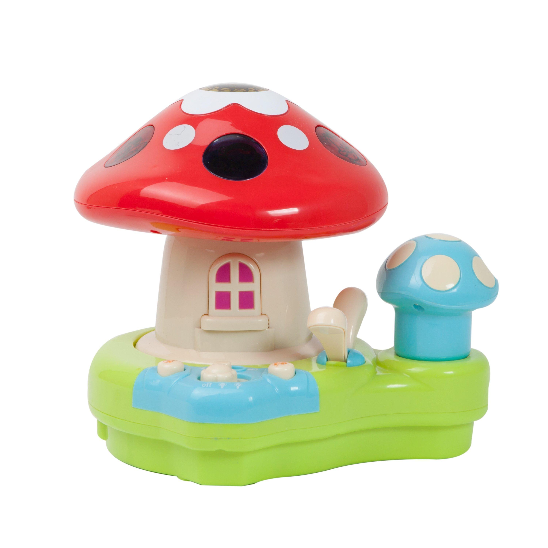 jucarie bebelusi noriel bebe - proiector ciupercuta cu lumini si sunete