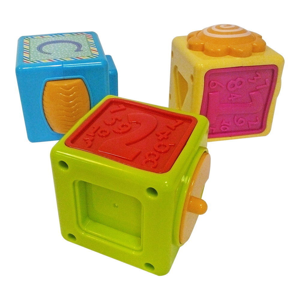 jucarie bebelusi noriel bebe - turnulet din cuburi