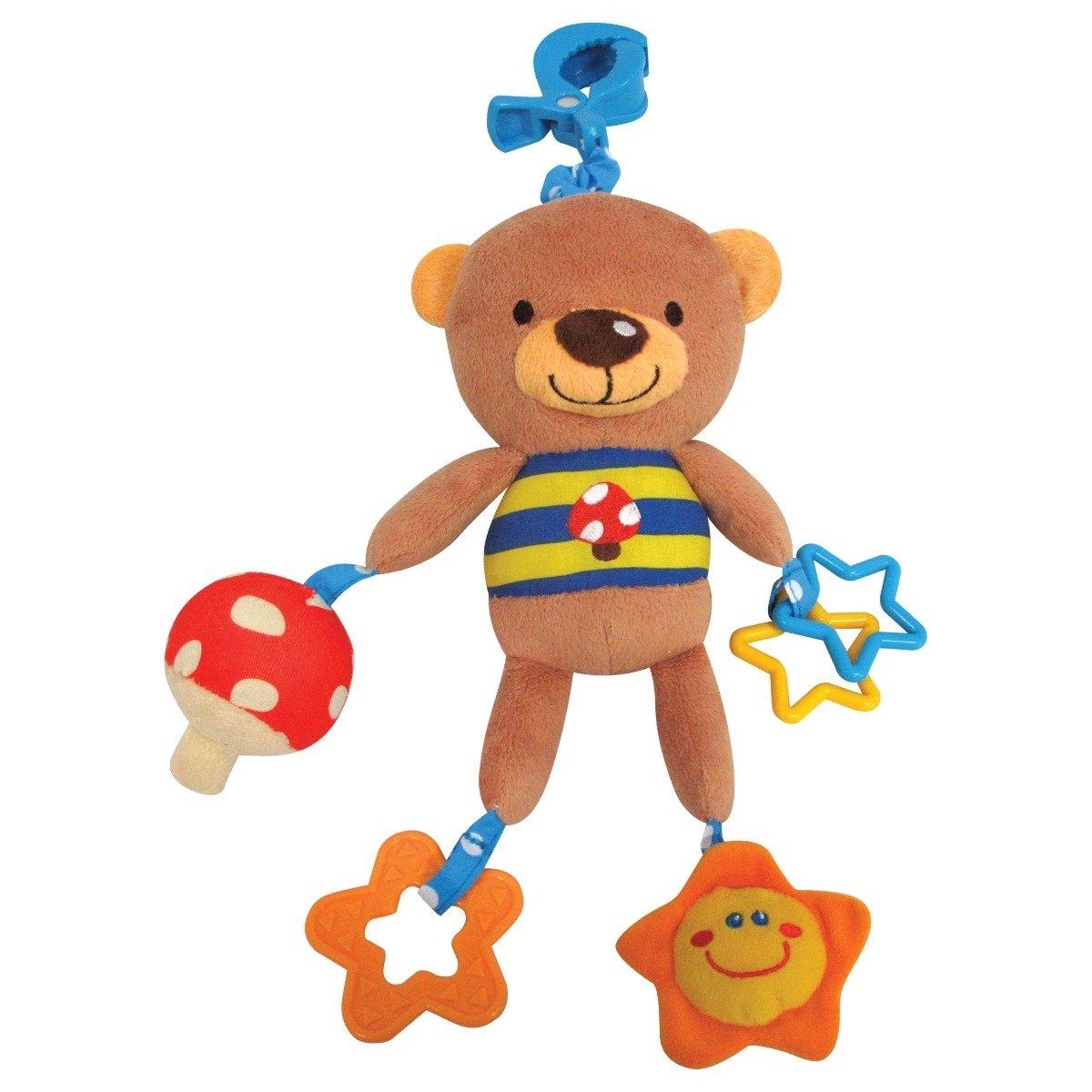 jucarie pentru carucior cu accesorii ursulet cu stelute
