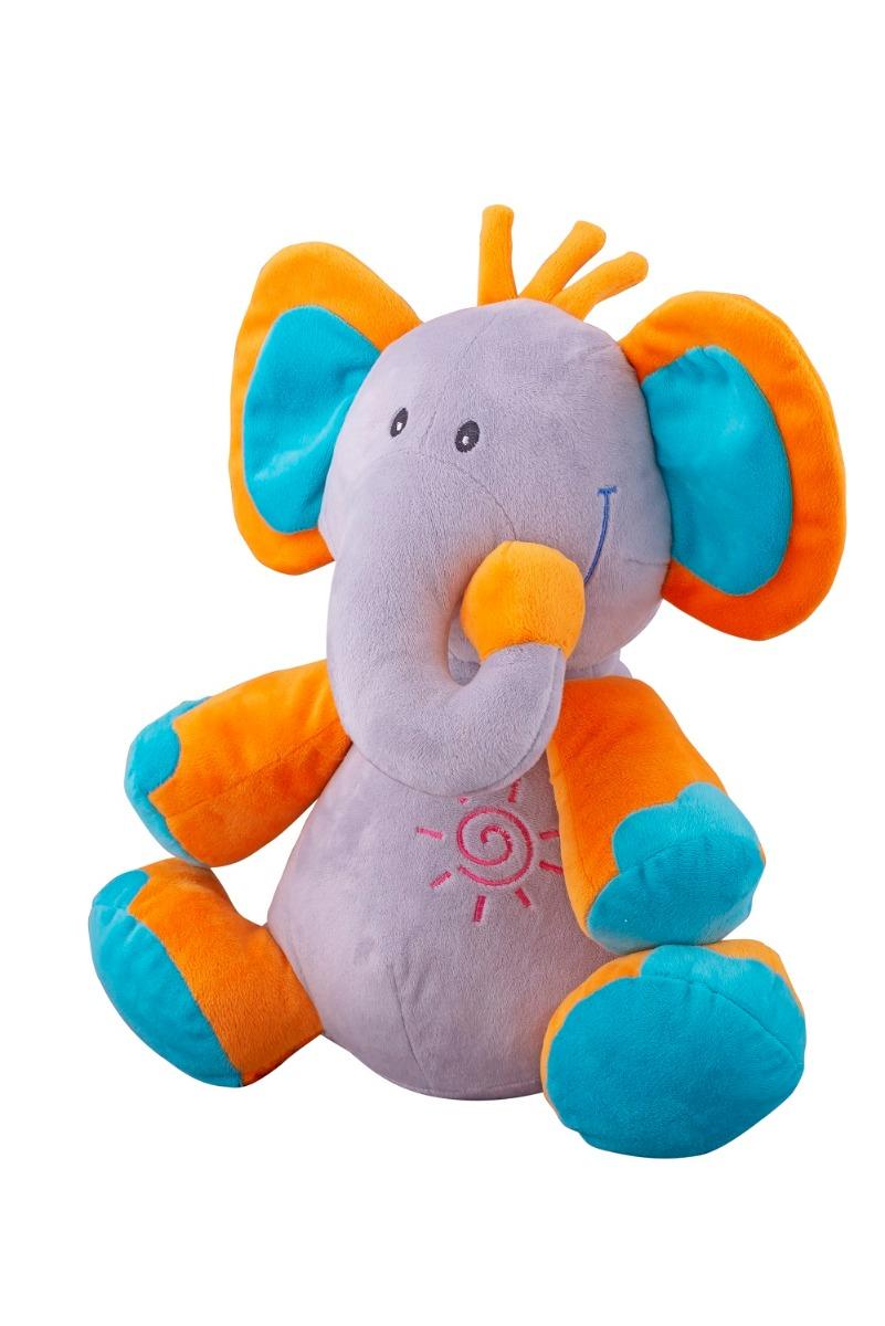 Jucarie de plus Elefant, 30 cm, Albastru