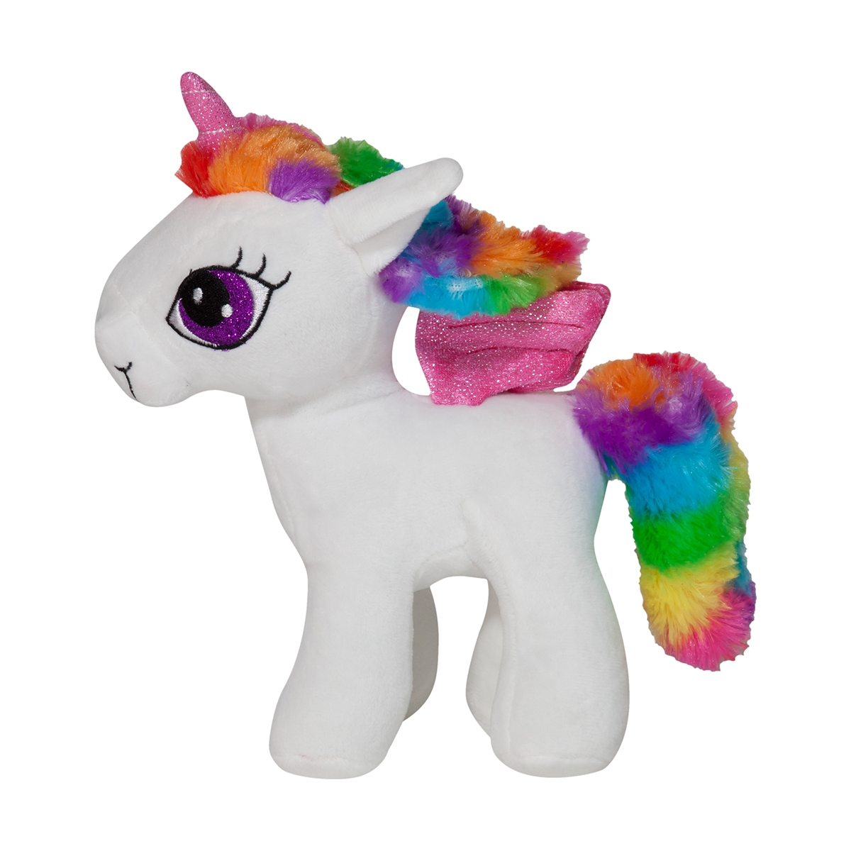 Jucarie de plus Noriel Plush - Unicorn alb, 23 cm