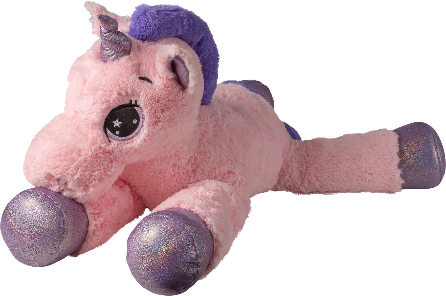 jucarie de plus noriel - unicorn roz, 80 cm