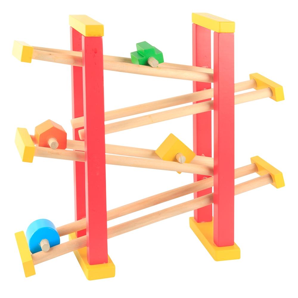 jucarie educativa beeboo - set de joaca turn din lemn