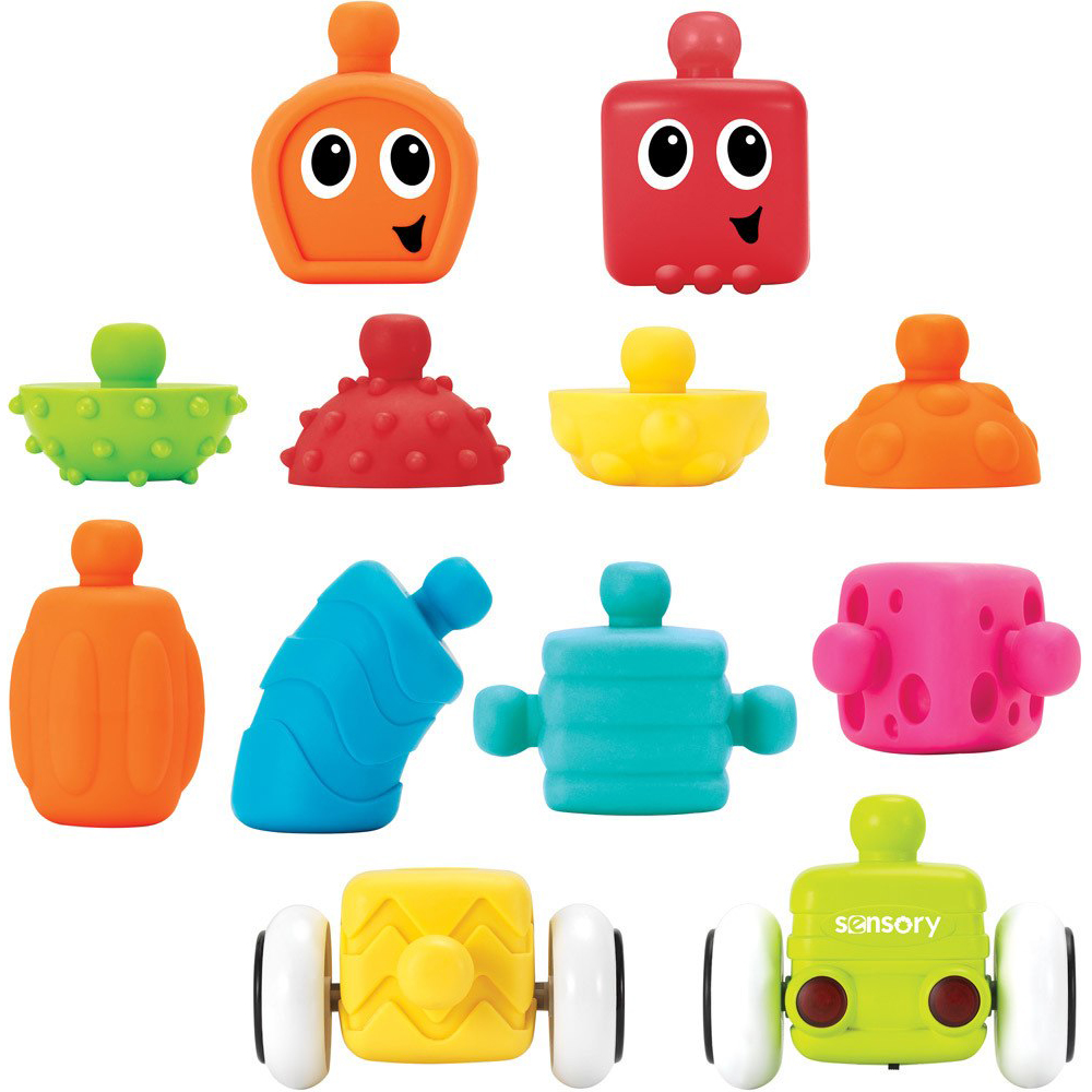 Set De Blocuri Infantino Plug & Roll Multi Block