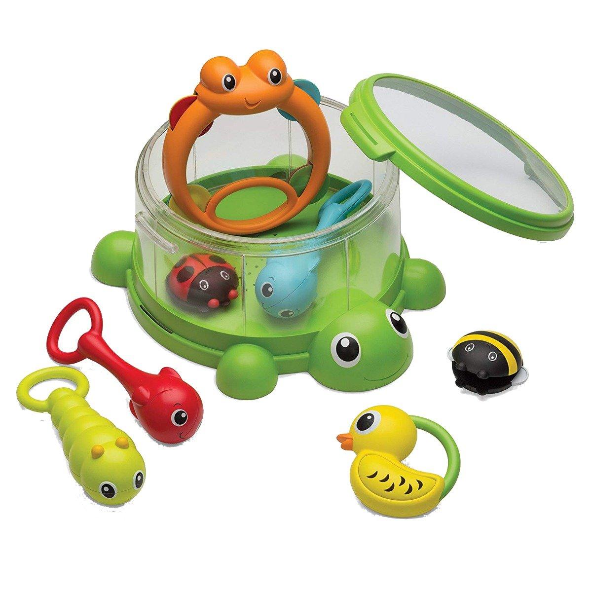 Jucarie bebelusi B Kids Turtle Cover Band 8 instrumente percurtie imagine 2021
