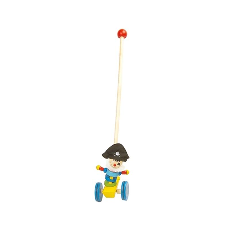 Jucarie de impins din lemn Beeboo, 55 cm - Pirat