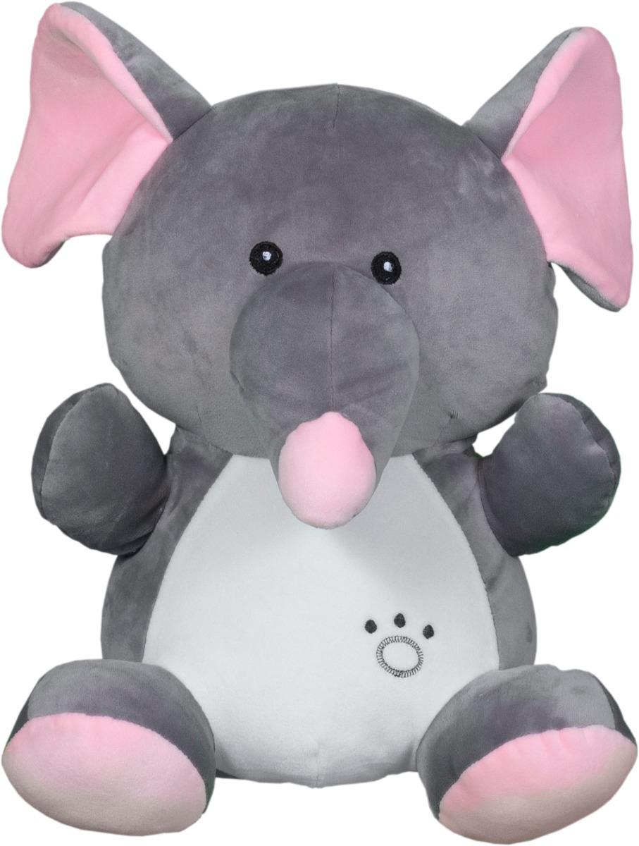 Jucarie de plus Noriel Elefant, Gri, 33 cm